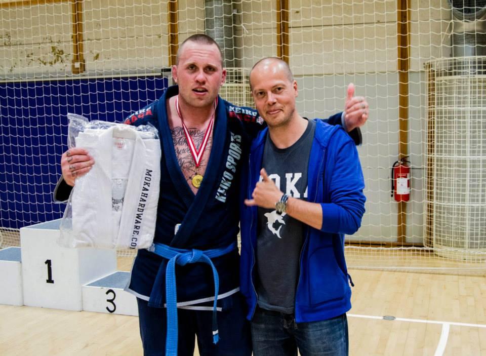 Nick Barnø Winner of the Blue Belt Open Class Adult