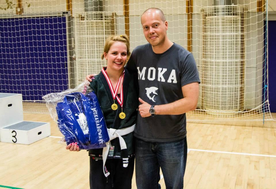Emma Svärdh Winner of the White Belt Female Open Class Adult